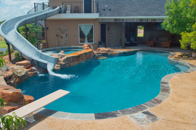 Luxury Backyards - Traditional - Pool - austin - by Cody Pools, Inc.