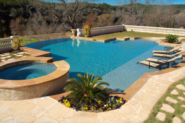 Luxury backyards traditional pool austin by cody for Luxury pool designs