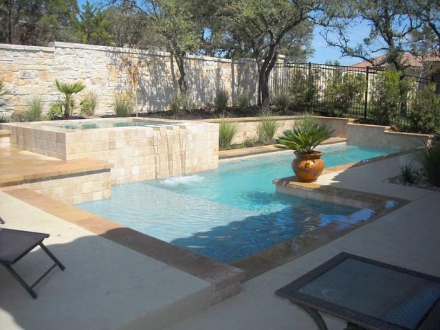 Luxury backyards traditional pool austin by cody for Pool design austin