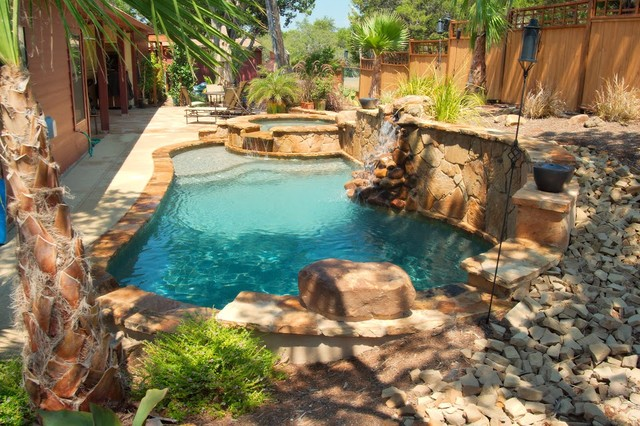 Luxury Backyards Tropical Pool Austin By Cody