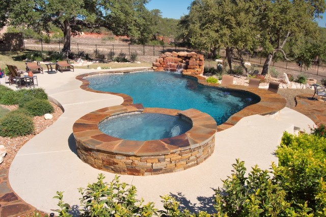 Luxury backyards traditional pool austin by cody for Pool design certification