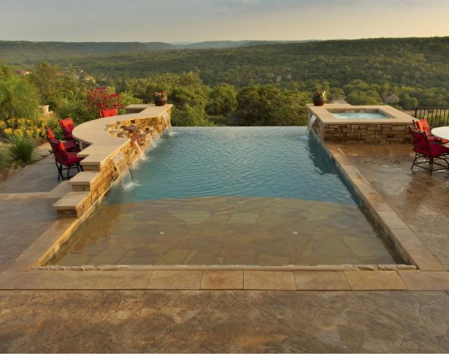 Luxury Backyards - Traditional - Pool - Austin - by Cody Pools, Inc.