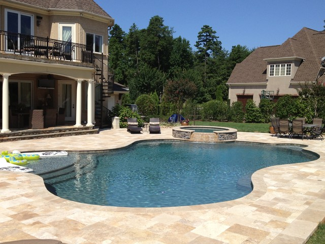 Luxury Outdoor living traditional-pool