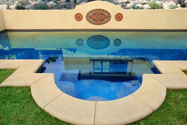Malibu Tile Santa Barbara Pool mediterranean-pool