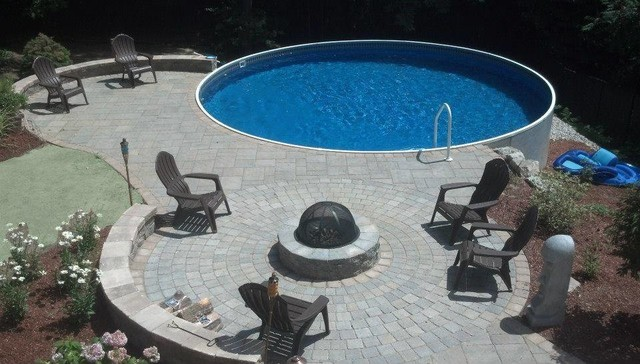 Manchester Radiant Pool Patio Fire Pit