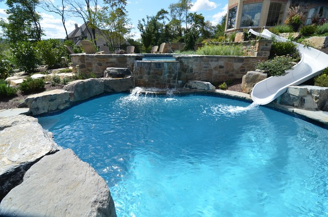 Massive Backyard Renovation traditional-swimming-pool-and-hot-tub