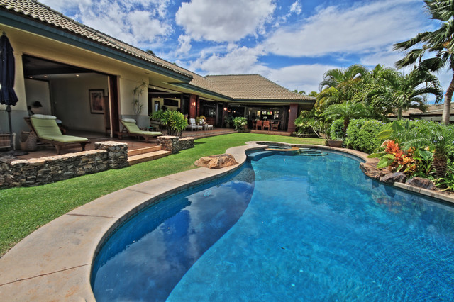 Inspiration for a tropical pool remodel in Hawaii