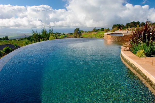 Maui Marble Pool Contemporary Pool Other Metro By