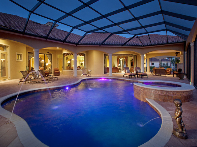 Mediterranean Golf Course Home Mediterranean Pool