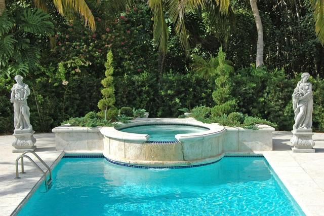 Mediterranean landscape design miami mediterranean for Pool design miami