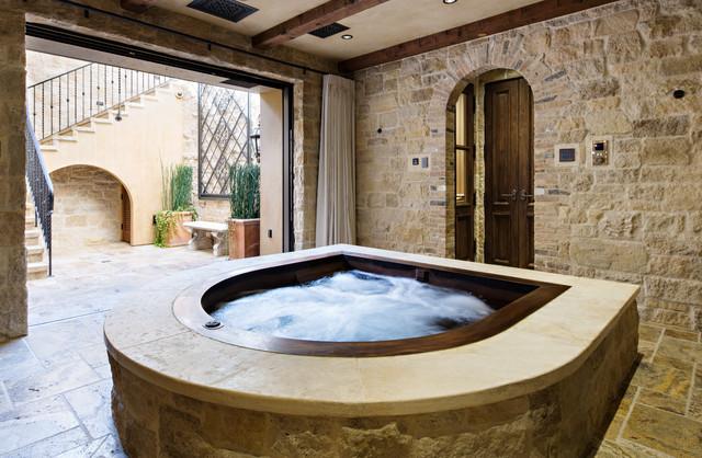 Copper Hot Tub Mediterranean Pool