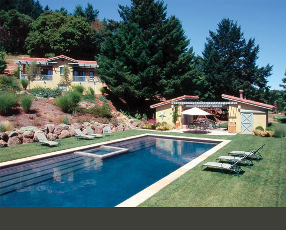 Mediterranean pool for Pool design houzz