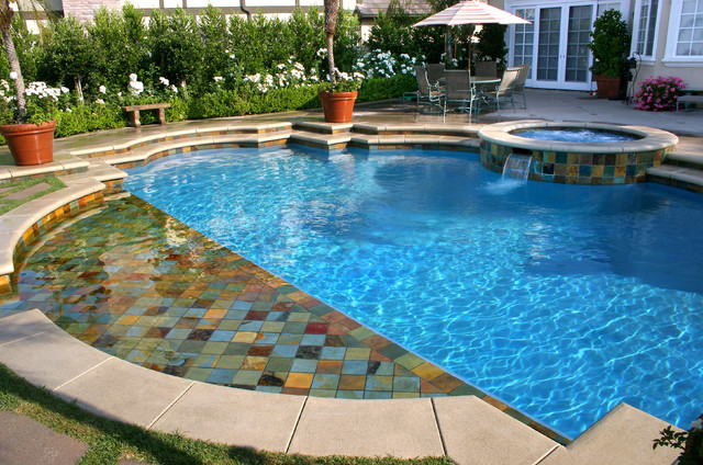 Los angeles mediterranean custom swimming pool and spa for Pool and spa contractors