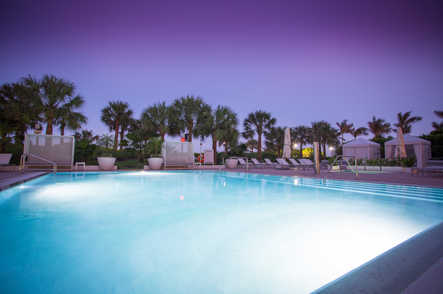 Miami beach amenities area renovation contemporary for Pool design miami