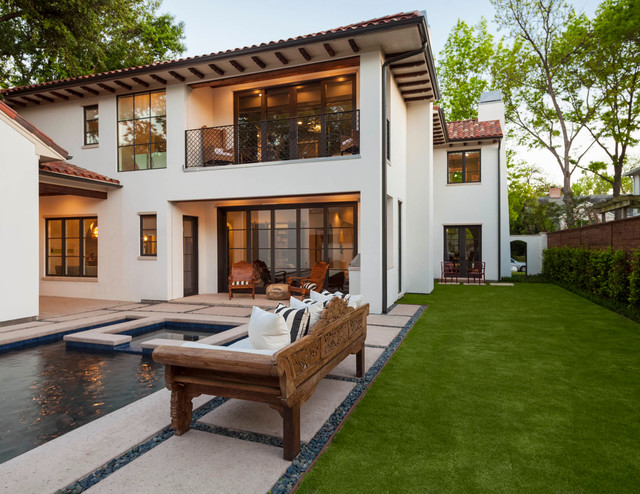 Home Builders Miami Charm In Highland Park Mediterranean Pool