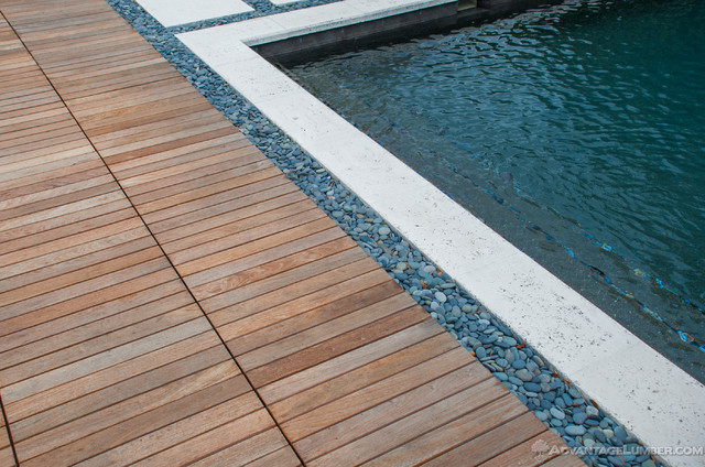 Miami Ipe Deck Tiles Contemporary Pool By