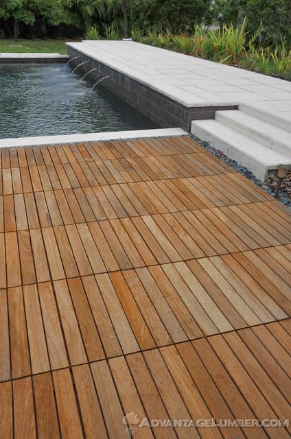 Miami Ipe Deck Tiles Contemporary Pool Miami By