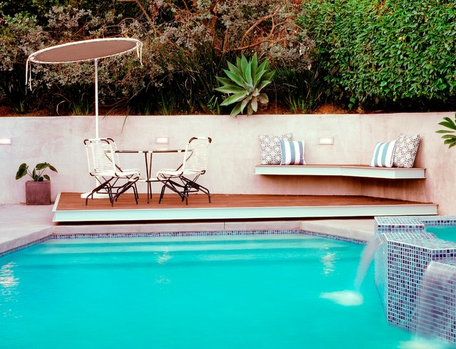Mid Century Meets Contemporary Midcentury Pool Los