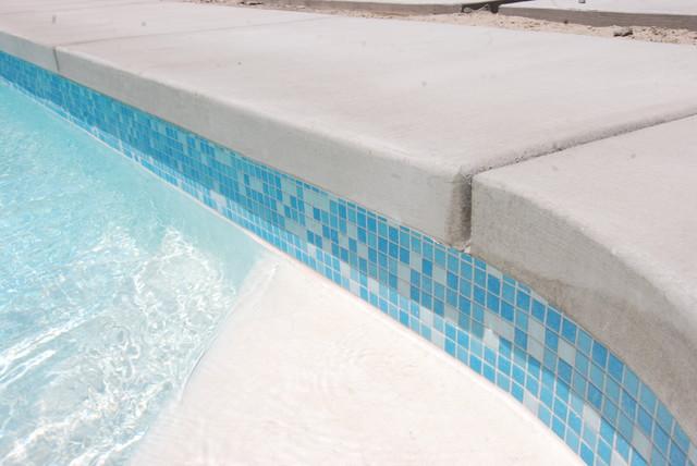 Mid Century Pool Re tiled Modern Los Angeles