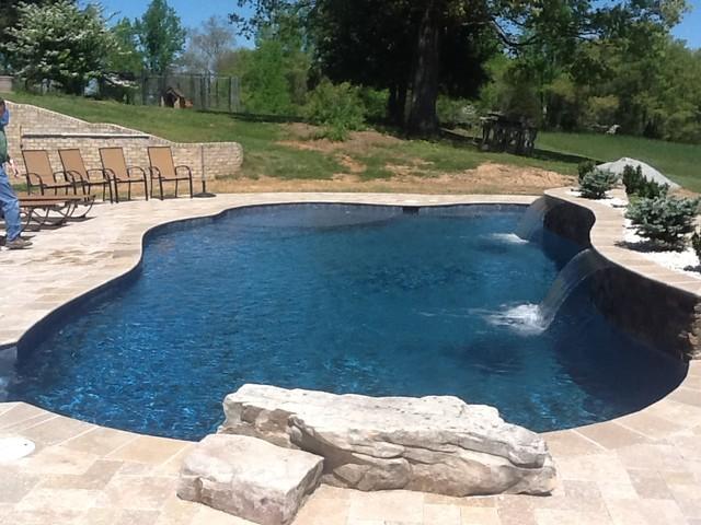 MIdnight Blue PLaster With Quartz Traditional Pool
