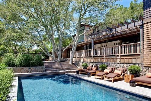 contemporary pool by Urrutia Design