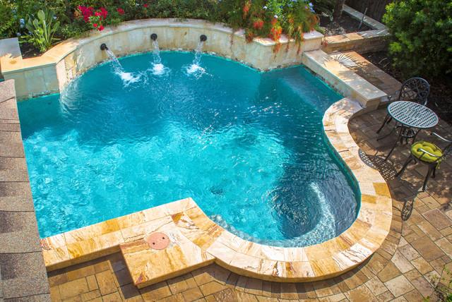 Mirror Lake Complete Landscape Design Traditional Pool
