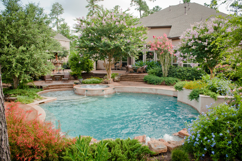Mirror Lake Designs - Pools - Traditional - Pool - Houston ...
