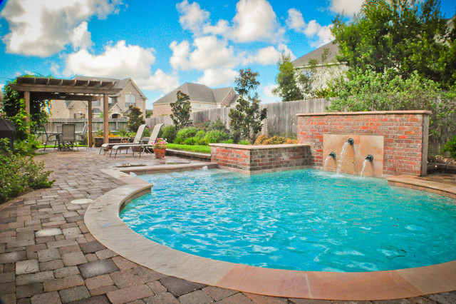 Mirror lake designs pools for Pool design houzz