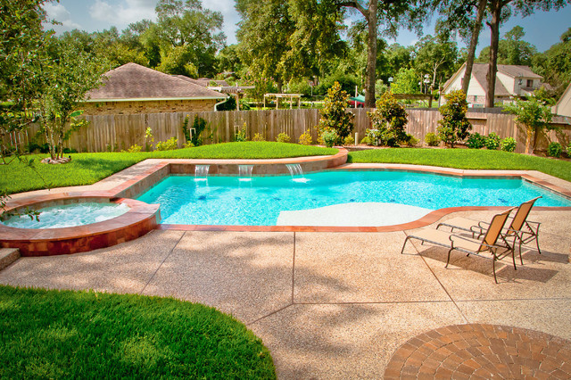 Mirror lake designs pools for Traditional swimming pool designs
