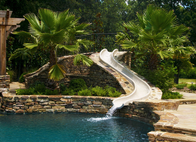 Outdoor natural pool  Mississippi Natural Pool & Outdoor Living Design