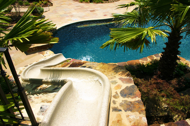 Mississippi Natural Pool & Outdoor Living Design traditional-pool