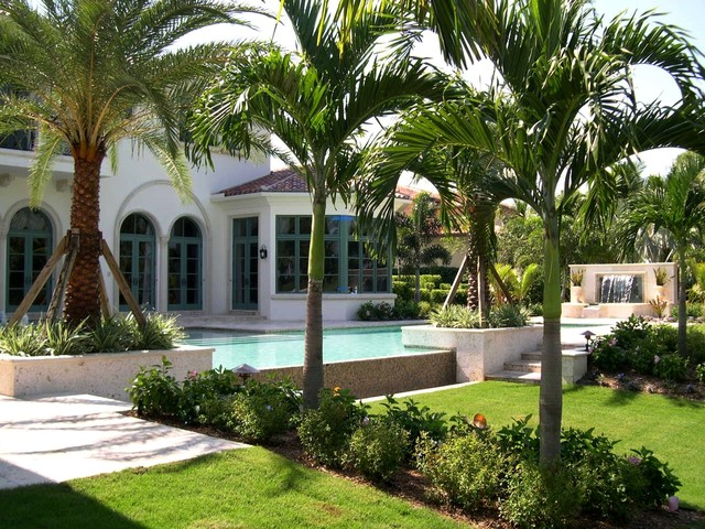 Model home in old palm palm beach gardens florida for Beach landscape design