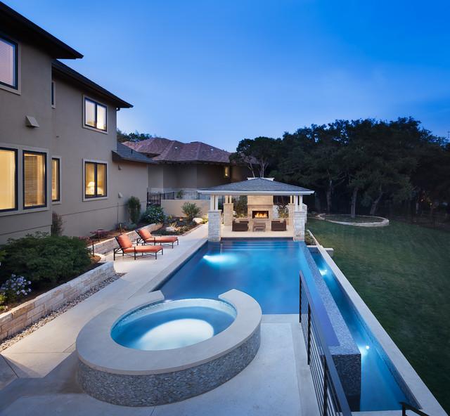 Modern sleek modern pool austin by austin water for Pool design austin