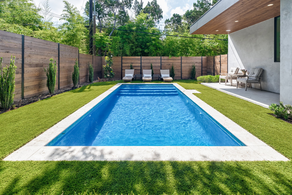 Modern Backyard Renovation Contemporary Pool Austin By Best Of Texas Landscapes