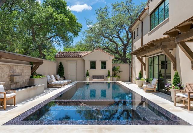 Private Residence - Dallas Modern Mediterranean mediterranean-pool