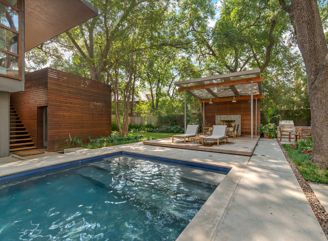 Wunderbar Highland Park Modern Garden Contemporary Pool Dallas