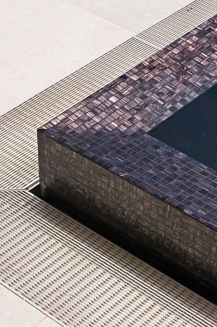 Modern Black Pool With Glass Mosaic Modern Pool
