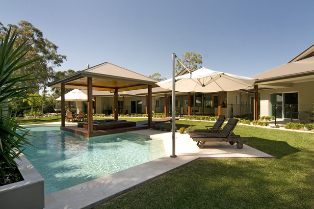 Modern Country modern pool