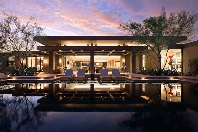 Good Modern Desert Home Contemporary Pool