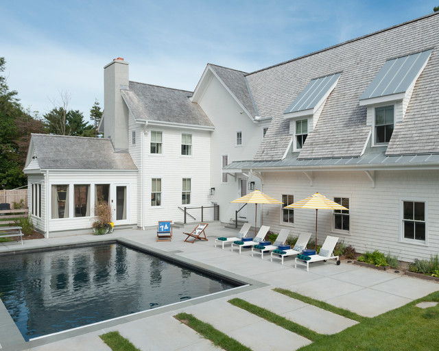 Modern Farmhouse Pool Farmhouse Pool New York By