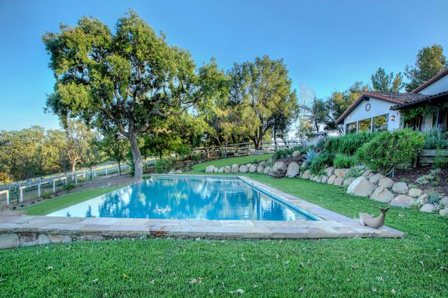Pool - farmhouse pool idea in Los Angeles