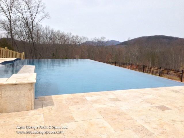 Modern Infinity Edge Pool - Modern - Pool - Atlanta - by Aqua ...