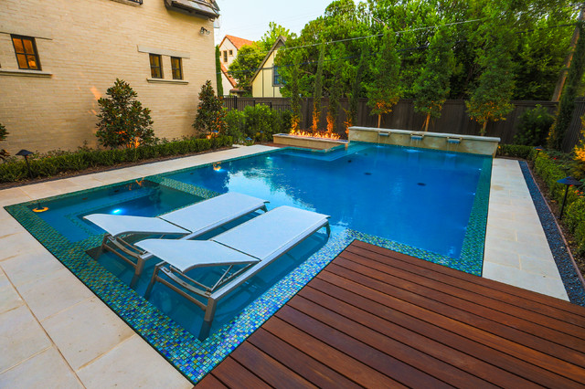 Modern landscape and zero edge pool contemporary pool for Pool garden edging