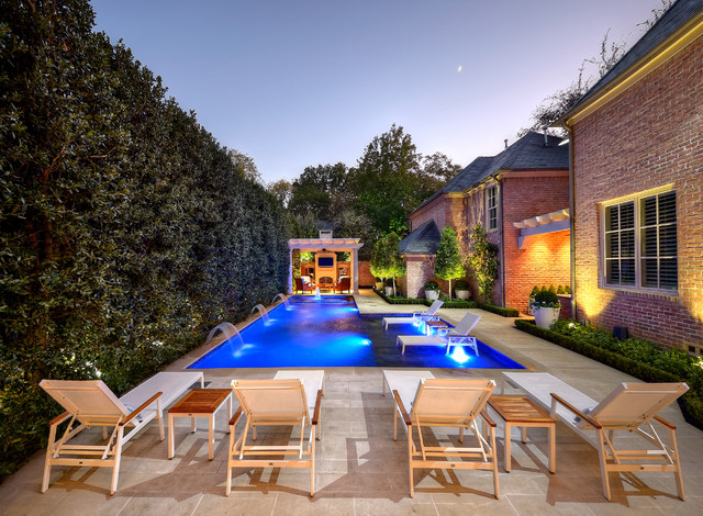Private residence private pool garden modern pool for Pool design dallas texas