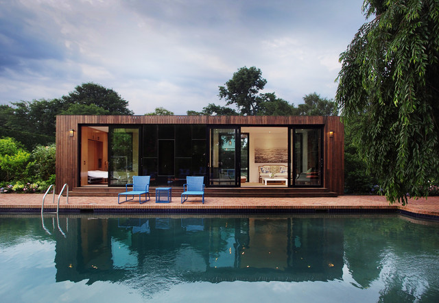 Cocoon Cabin Southampton Exterior Modern Pool New York By Cocoon9