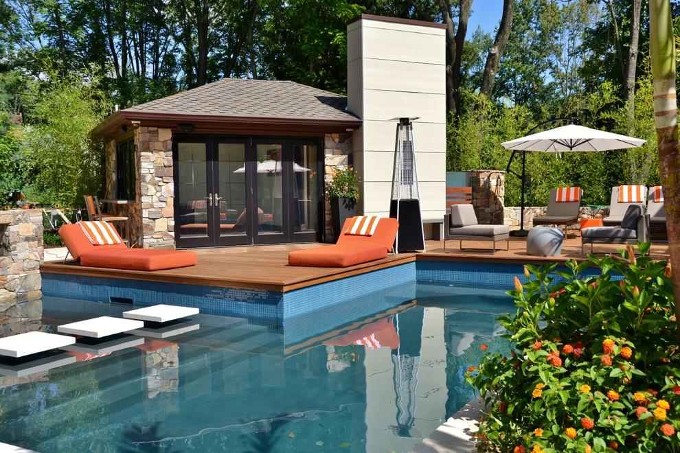Modern Pool Design Backyard - Modern - Pool - New York ...