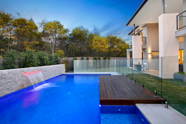 Modern pool design contemporary landscape other metro by space landscape designs - Landscape and pool design ...