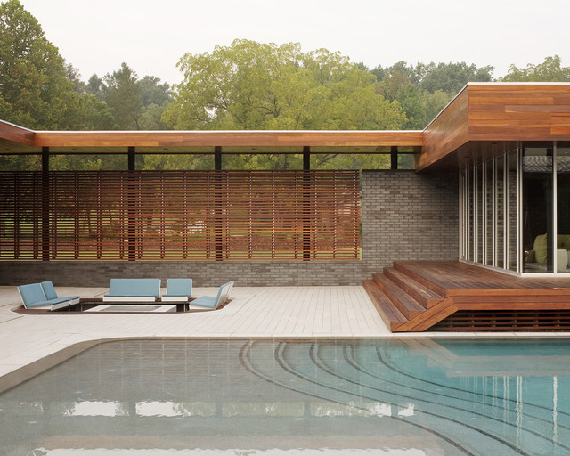 modern pool by Hufft Projects
