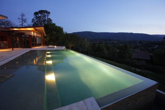 Pool at Dusk modern-pool