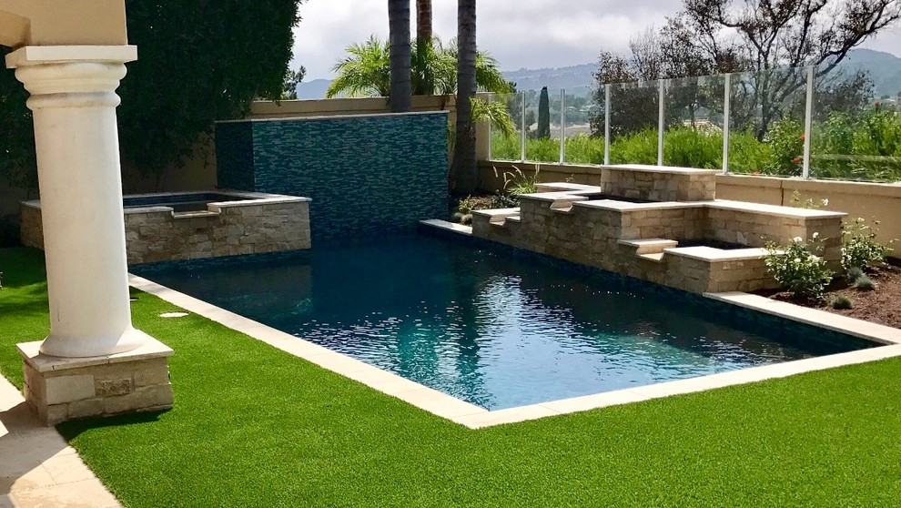 Modern Pool with Tuscany accents